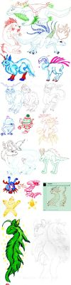Winter beasts and christmas creatures by acidshadow