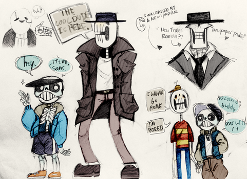 PROTO-UNDERTALE: The Skeletons by DerpStickers