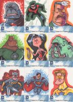 DC sketchcards 1 by JeffVictor