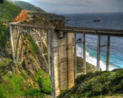 Bixby Bridge HDR by wayworth