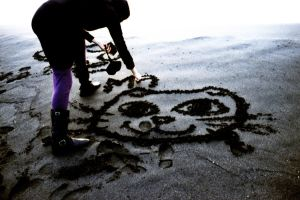 sand drawing by chubbysoul
