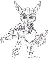 A Crack in Time Ratchet Sketch by sonicwindartist