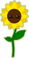 Kawaii Sunflower by amis0129