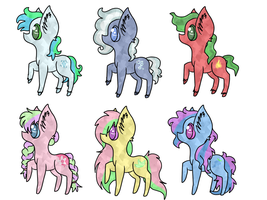!OPEN! !REDUCED PRICES! CRYSTAL PONIES ADOPTS by Kyarii-chan