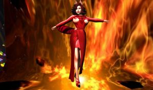 Lady in red by Mistress--Phoenix