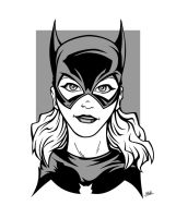 Batgirl simple vector art by raygun19