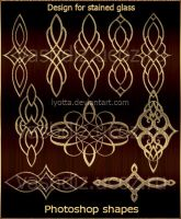 Design for stained glass. Shapes by Lyotta