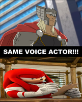 Knuckles and Thor Got Same Voice Actor. by brandonale