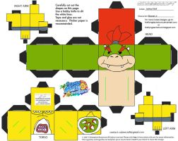 VG15: Bowser Jr Cubee by TheFlyingDachshund