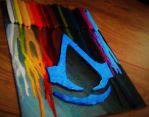 melted crayon painting (assassin's creed) by stjaimy