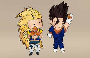 Vegito and gotenks by krunchh