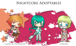 Nightcore Adoptables (open) by Kiraka16