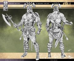 Gladiator Concept Art Line by RodGallery
