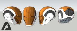 Mark 39 Helmet - Iron Man by AZTLANN