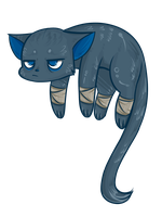 Floating Cat by caycowa