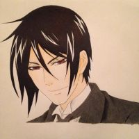 Sebastian Michaelis by jaybirdlovesart