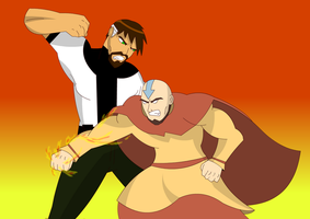 Ben 10000 vs Aang by Lord-Anwku