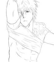 Lineart: Ichigo Changing Clothes by PeachBerryDivision