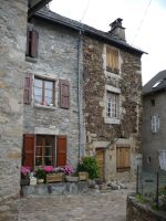 Stone house 3 courtyard by Cat-in-the-Stock