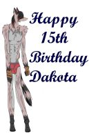 Happy Birthday Dakota by Moons-Cafe