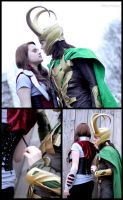 Loki and Sif - open the corset - Cosplay by Mon-Kishu