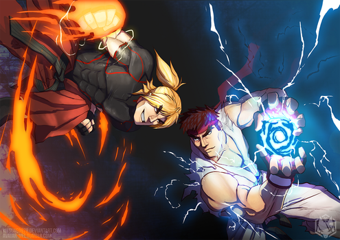 ryu and ken - the awaited showdown - SFV by kitsune0978