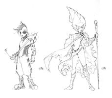 More character designs by Peter-v-Nguyen