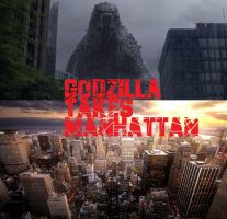 WORLDS COLLIDE pt7: Godzilla Takes Manhattan COVER by RMC1618