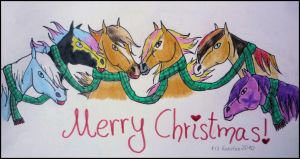 six horses . one scarf by WingedMelody
