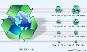 Recycling with shadow Icon by jpeger