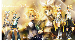 Kagamine Rin and Len Collage by Rockstargirl829