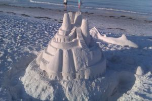 A Sand Castle on Lido Beach by nutshell