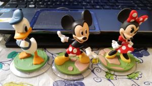Mickey, Minnie And Donald Figures by Mileymouse101