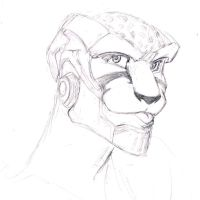 Beast Machines - Sketch - Cheetor blew a raspberry by Vee-Freak
