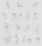 Daisy-Headed Sketch Pile by Yeldarb86