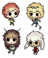 Adopted chibis by claire-face