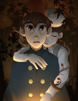 Over the Garden Wall by lemonokashi