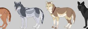 Wolf Adoptables by NannyLaine-Adopts