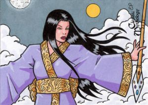 Izanami Sketch Card - Classic Mythology