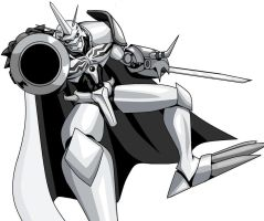 Omegamon Black and White by Santiatier