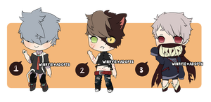 Halloween Boys Adopts [CLOSED] by cherskelle