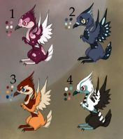 free Bird creature adoptables-Closed by Pink-Death-Pigeon