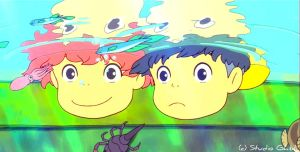 Underwater Glee - Ponyo Wallpaper by sirdaftodill