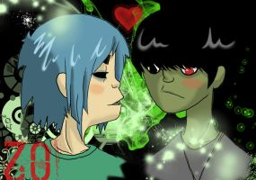 Murdoc x 2D Colo by Whale-Fan