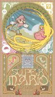 Super mario world-Art nouveau by NoxIllunis971