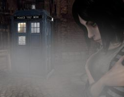 Alice meets TARDIS by capconsul