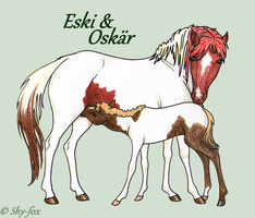 Eski and Oskar by shy-fox