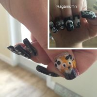 Lenore inspired nails by Nightmaremoon108