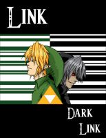 Link and Dark Link by PenclGuy