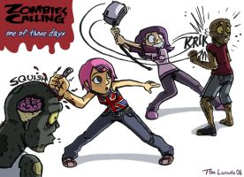 Zombies Calling Those Days by captainsponge